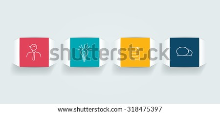 4 Steps  tutorial, chart, diagram. One, two, three, four concept. - stock vector