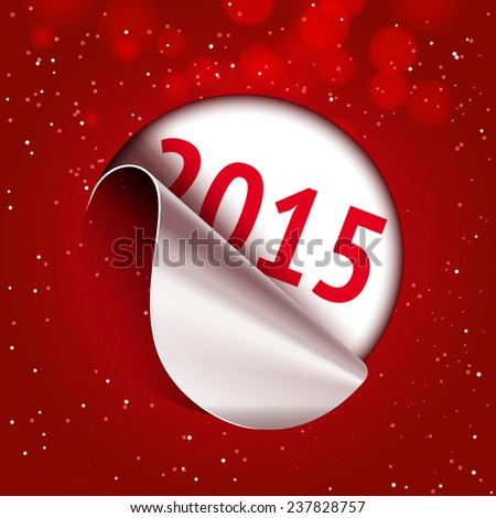2015 sticker off - stock vector