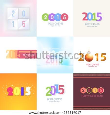 2015 Stylish Text Vector Design Set - stock vector