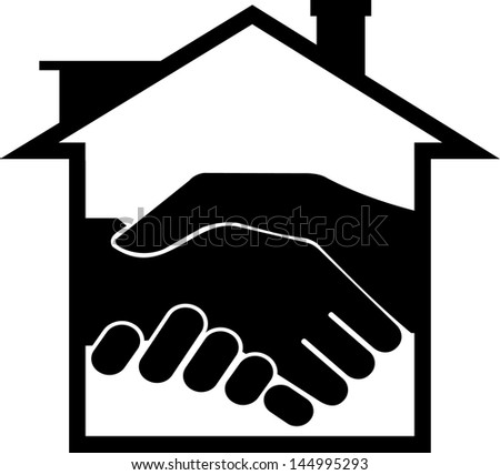 successful real estate transactions - stock vector