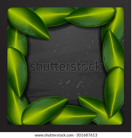 Summer tropical green leaves - stock vector