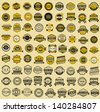 81 Taxi insignia - vintage style. Big set, vector illustration - stock vector