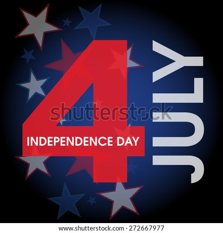 4th July American Independence Day design. - stock vector