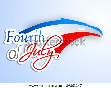 4th of July, American Independence Day background. - stock vector
