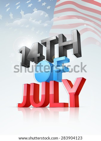 4th of July, American Independence Day celebration - stock vector