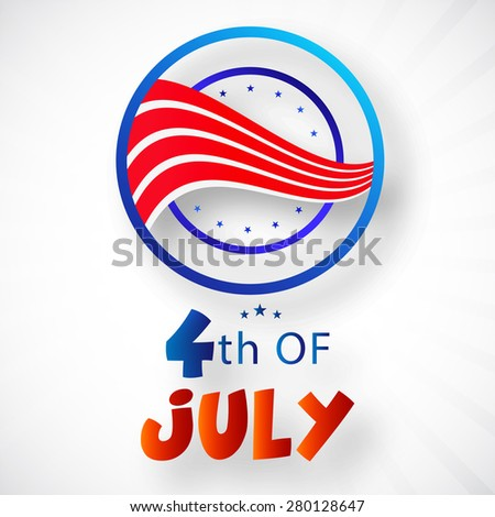 4th of July, American Independence Day celebration background. - stock vector