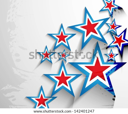 4th of July American Independence Day stars background vector - stock vector