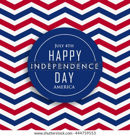 4th of july happy independence day america - stock vector