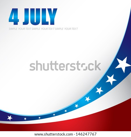 4th of july  independence day background. Vector illustration. Cover design for poster, flyer, brochure - stock vector