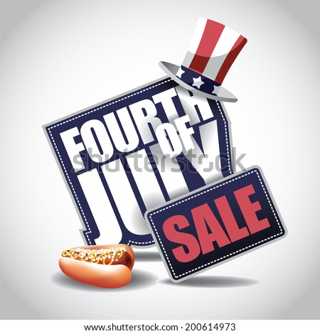 4th of July Sale icon EPS 10 vector - stock vector