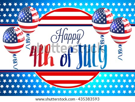 4th of July. 4th of July independence day background. - stock vector