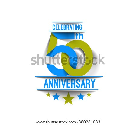 50th Years Anniversary Celebration Design.  - stock vector