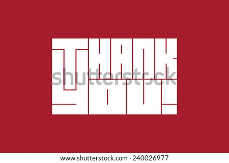 """Thank you"" vector illustration - stock vector"