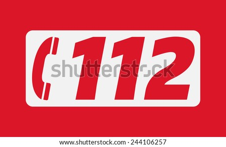 112 The European emergency number - stock vector