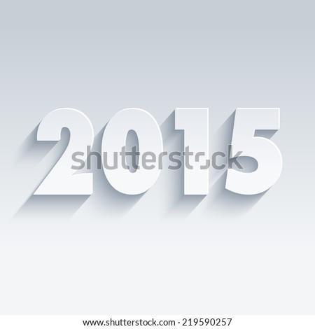 2015 theme in flat design - stock vector
