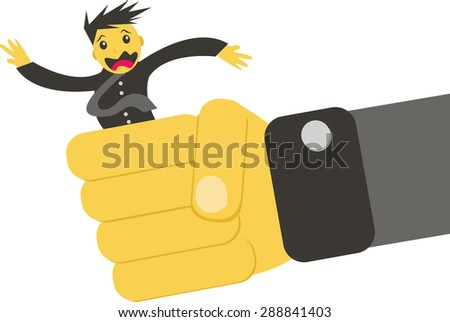 threatened businessman - stock vector
