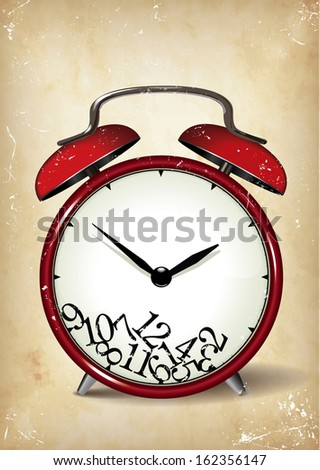 Time Poster  Template  - suitable for posters, flyers, brochures, banners, badges, wallpapers, web design, advertising, publicity and more  - stock vector