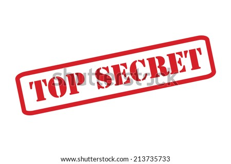 'TOP SECRET' Red Stamp vector over a white background. - stock vector