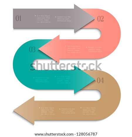 Trendy banner-arrow design for infographics,website templates or design graphic for business. Vector EPS10 - stock vector