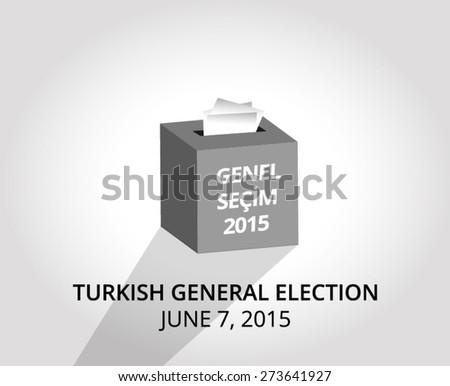 2015 Turkish General Election  - stock vector