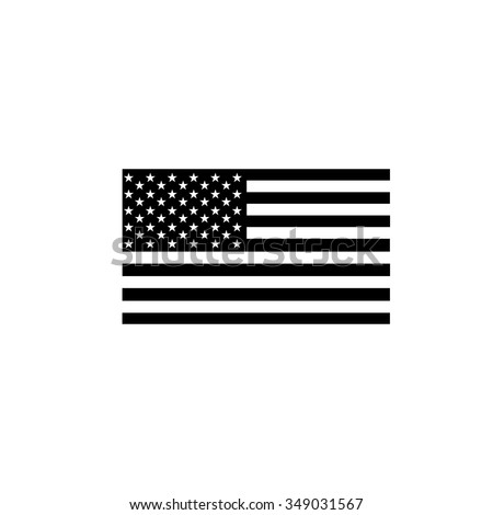 united  states Flag icon - stock vector