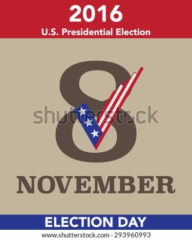 2016 US Election Day Vector Concept - stock vector