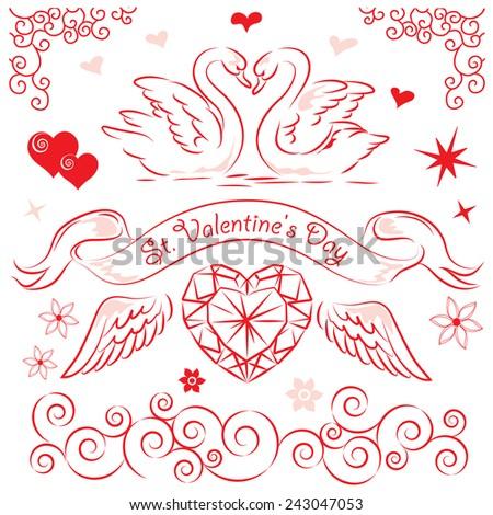 Valentine's Day. - stock vector