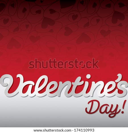 """""""Valentine's Day!"""" textured heart card in vector format. - stock vector"""