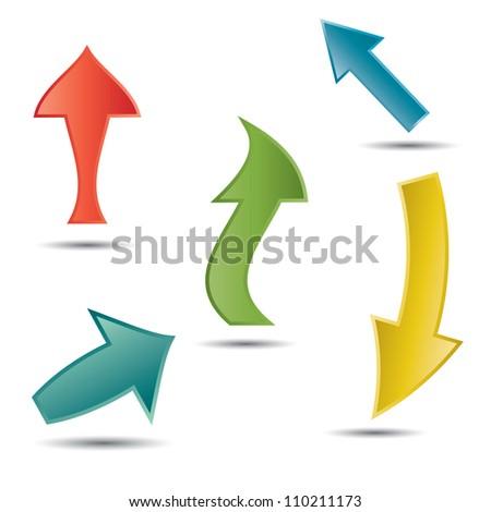 Vector arrows .EPS10 - stock vector