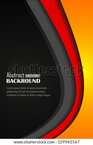 Vector background curve line on dark space overlap layer graphic for text and message modern artwork design - stock vector