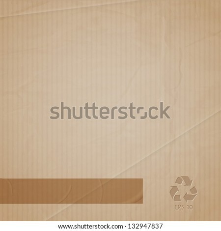Vector background of cardboard - stock vector