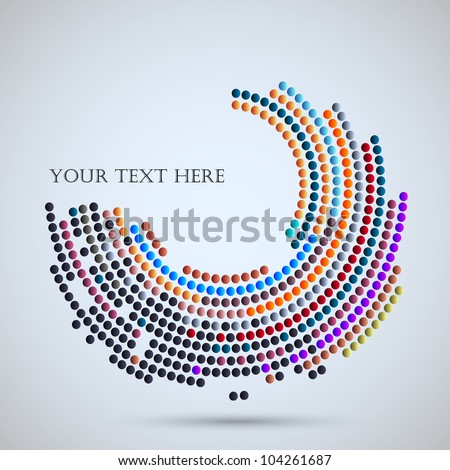 Vector background with abstract mosaic - stock vector
