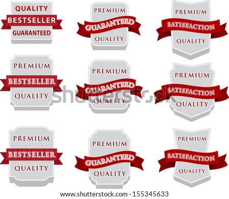 Vector badge design set - stock vector