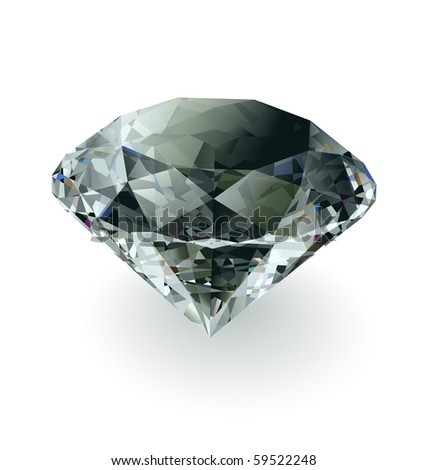 Vector black diamond - stock vector