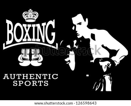 vector boxing sport - stock vector