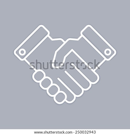 Vector icon handshake. Business and finance concept - stock vector