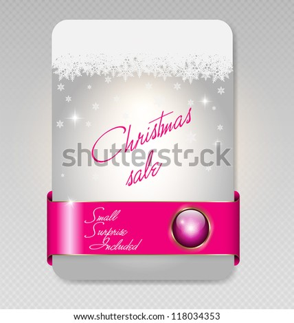 Vector illustration of Christmas sale card - stock vector