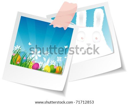 Vector illustration of Easter photo - stock vector