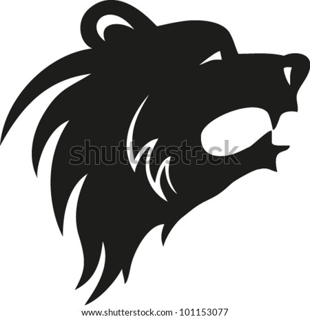 stock-vector--vector-     Grizzly Bear Face Logo