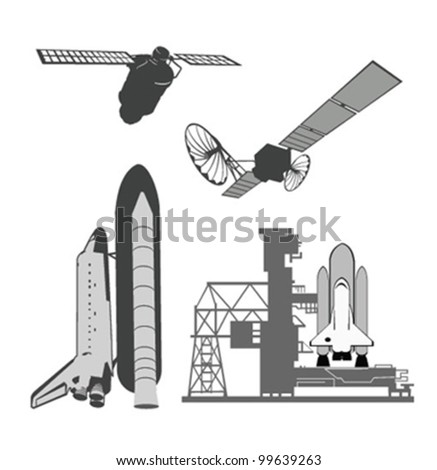 Vector illustration .Space elements. - stock vector