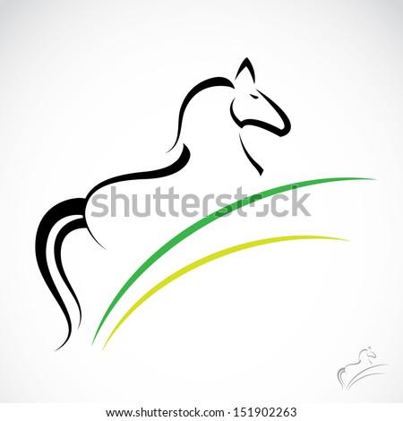Vector image of an horse  - stock vector