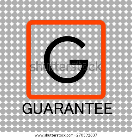 Vector  logo guarantee - stock vector