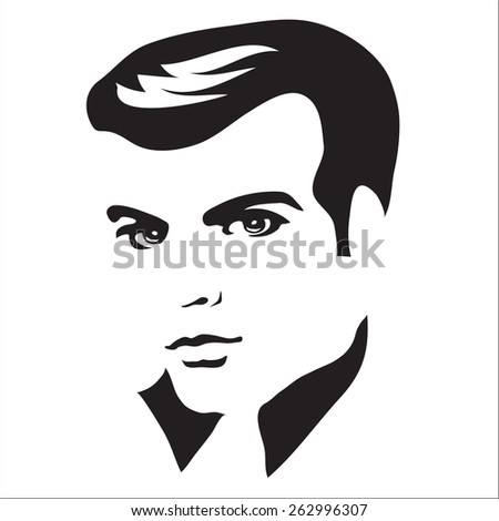 vector man's face - stock vector