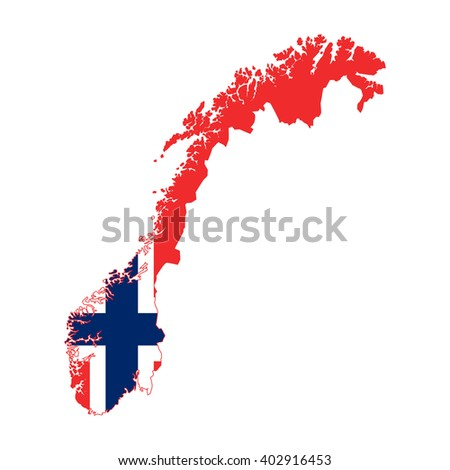 vector map of Norway flag - stock vector