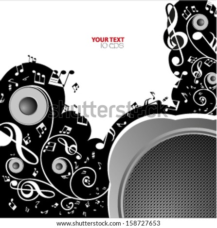 vector music note background design - stock vector