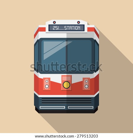 Vector Passenger Train Icon - stock vector