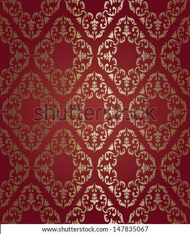 vector pattern. Barocco style, perfect seamless texture. EPS 8 format - stock vector