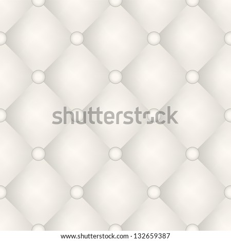 Vector seamless pattern. Beige upholstery texture. Volume background - stock vector