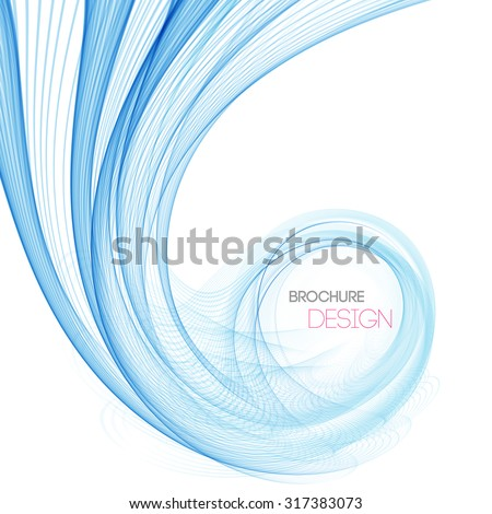 Vector smooth Blue Transparent abstract waves For cover book, brochure, flyer, poster, magazine, website, annual report - stock vector