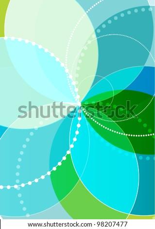 Vector spirograph illustration background. - stock vector